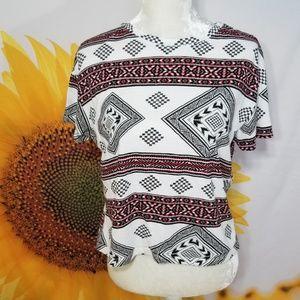 Zara Trafaluc Aztec Pattern Tee